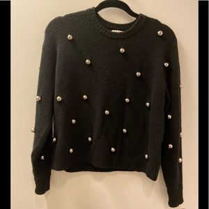 Gently worn Alice+Olivia sweater with metal balls